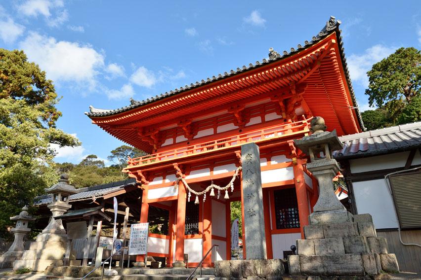 濱口梧陵ゆかりの地を巡るコースのイメージ(広八幡神社)