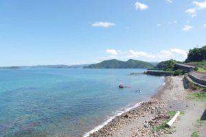 名南風鼻及び鷹島の景観